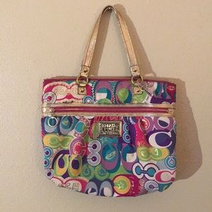 Gorgeous coach poppy bag gently used clean